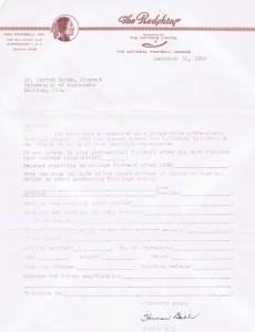 Redskins letter