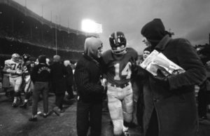Y.A.  Tittle Walking Off Field After Game