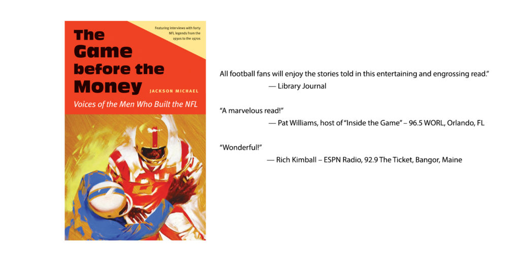The Game before the Money recounts the National Football League's story and the evolution of America's most popular sport in the vivid words of men who built the NFL.