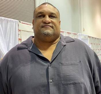 Photo of Willie Roaf today, Pro Football Hall of Fame member.